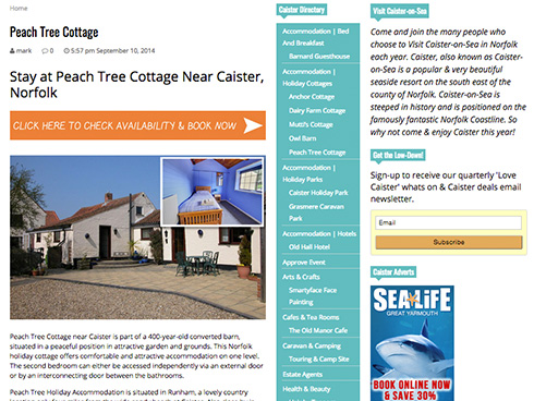 Advertise in Caister